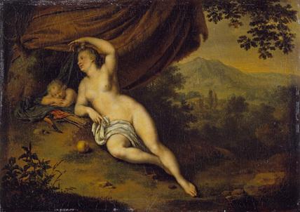 Wilhelm van mieris 1698 Venus and Cupid Wallace Collection Londres
