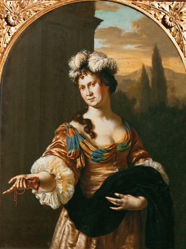 Willem-van-Mieris-1683-Une-prostituee-Allegorie-de-la-Fierte-Kunsthistorisches-Museum