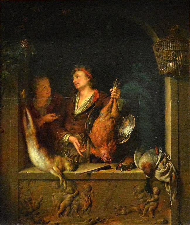 Willem_van_Mieris Le_Marchand_de_gibier_Musee_du_Louvre