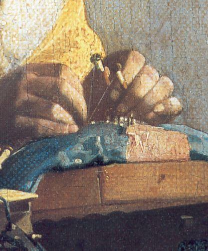 dali jeune-vierge-autosodomisee-par-les-cornes-de-sa-propre-chastete-1954 detail dentelliere