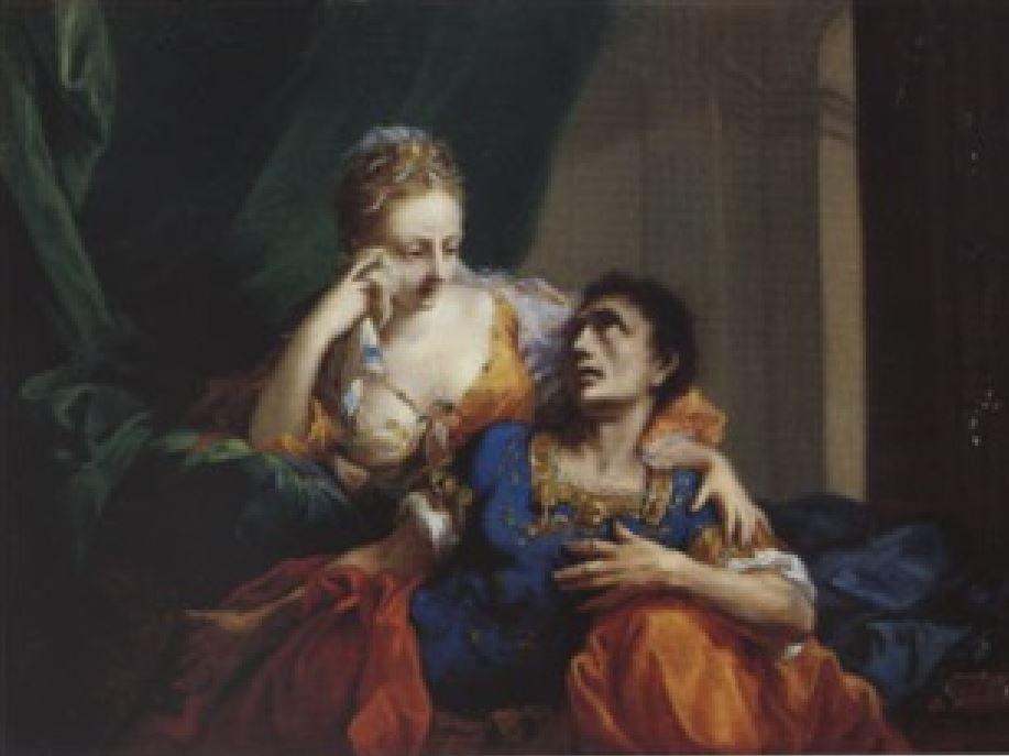 johann-heinrich-tischbein-the-elder-cleopatre et antoine mourant