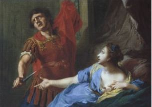johann-heinrich-tischbein-the-elder-tarquin violant Lucrece
