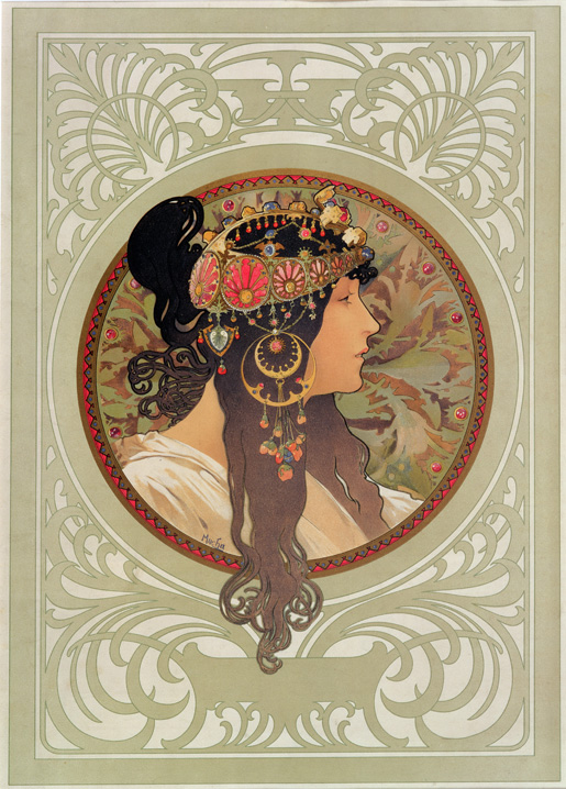 mucha tete byzantine brune 1897