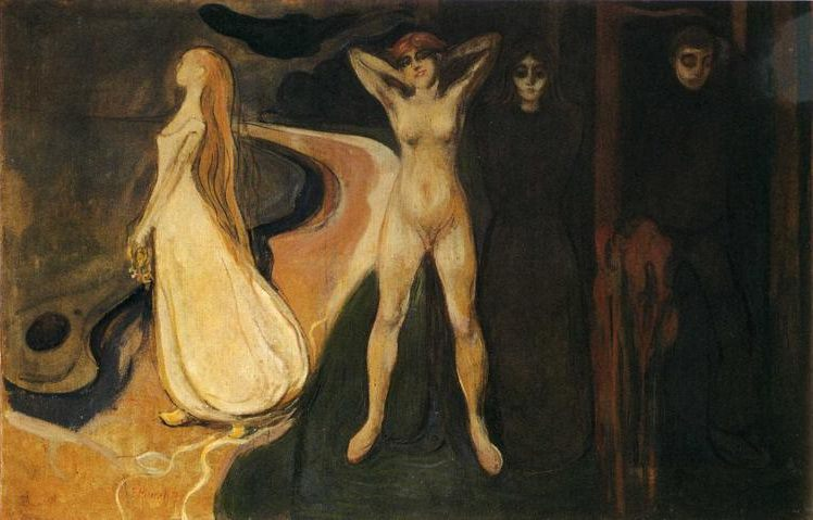 munch Three Stages of Woman (The Sphinx) 1894 Rasmus Meyer Collection, Bergen, Norway