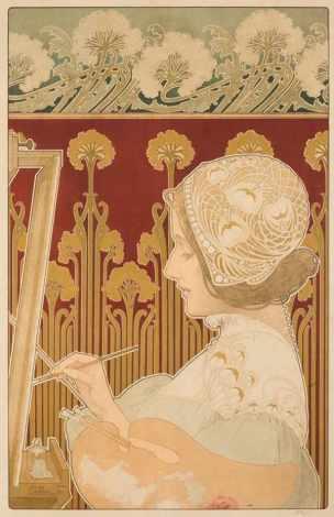 privat-livemont 1901 La peinture chromolithograph