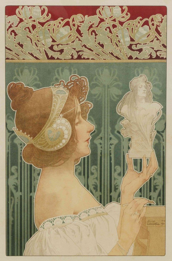 privat-livemont 1901 La sculpture chromolithograph