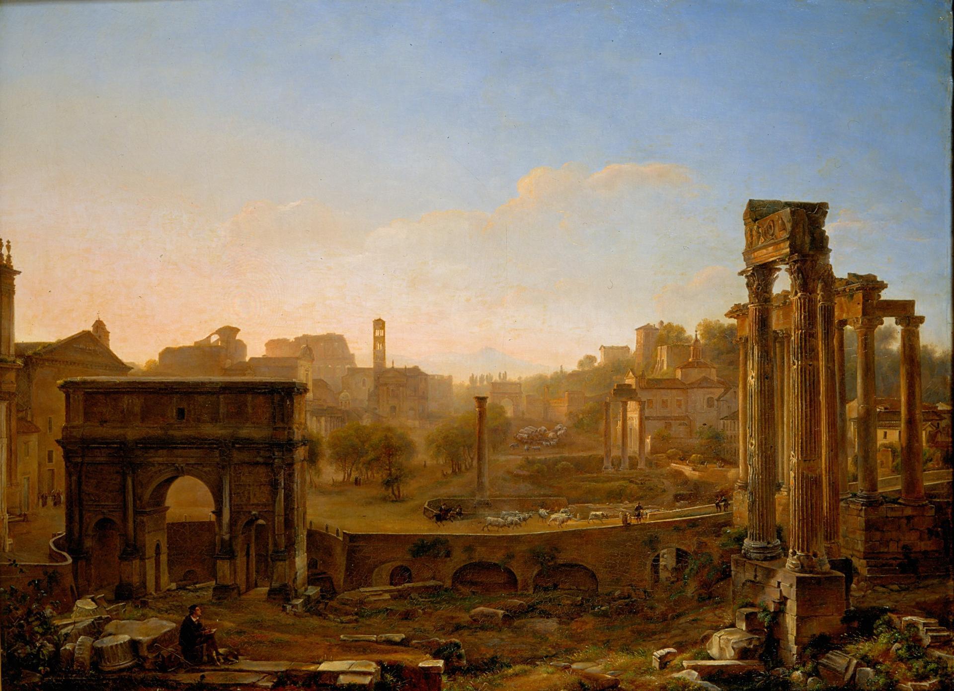 sarazin_de_belmont_louise_josephine-vue du forum le matin 1865 musee beaux arts de tours