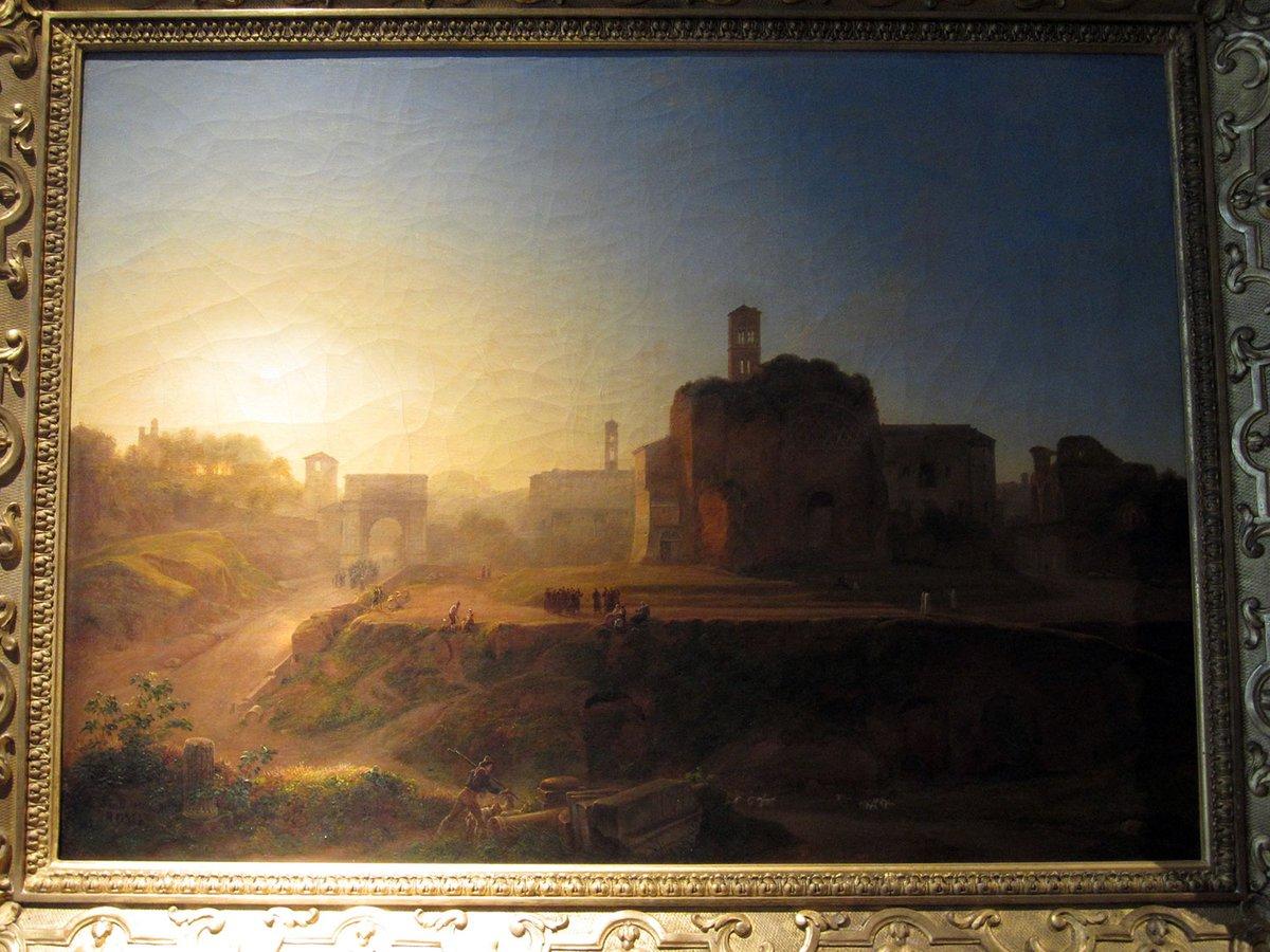 sarazin_de_belmont_louise_josephine-vue du forum le soir 1865 musee beaux arts de tours