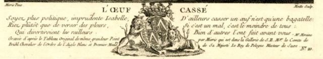 van Mieris Frans (I) 1655-57 The broken egg Ermitage gravure de Pierre Etienne Moitte 1754