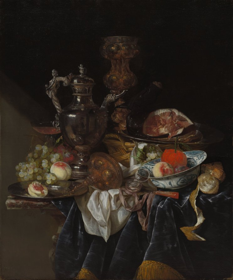 Abraham Van Beyeren, Still Life with Silver Wine Jug, 1660-1666 Cleveland Museum of Art