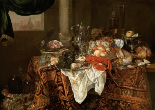 Abraham van Beyeren Banquet Still Life Hohenbuchau Collection Liechtenstein