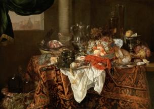 Abraham van Beyeren Banquet Still Life Hohenbuchau Collection Liechtenstein