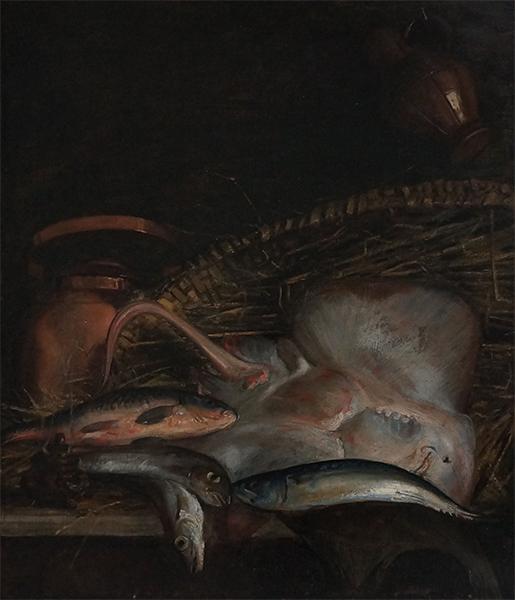 Carolus Duran Nature morte aux poissons 1866 Coll privee