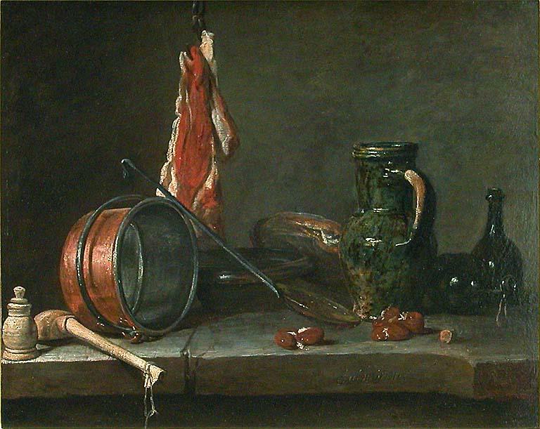 Chardin 1731 Le menu de gras louvre