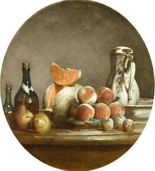 Chardin 1756 Le melon entame Louvre Paris