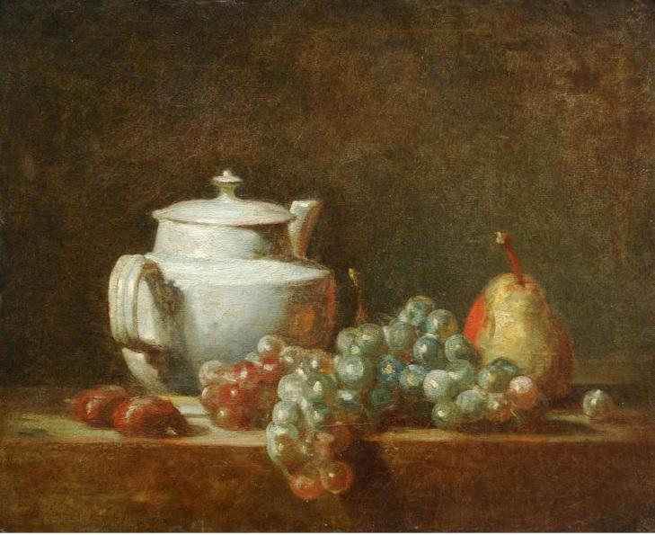 Chardin 1764 La theiere blanche Musee des Beaux Arts Alger