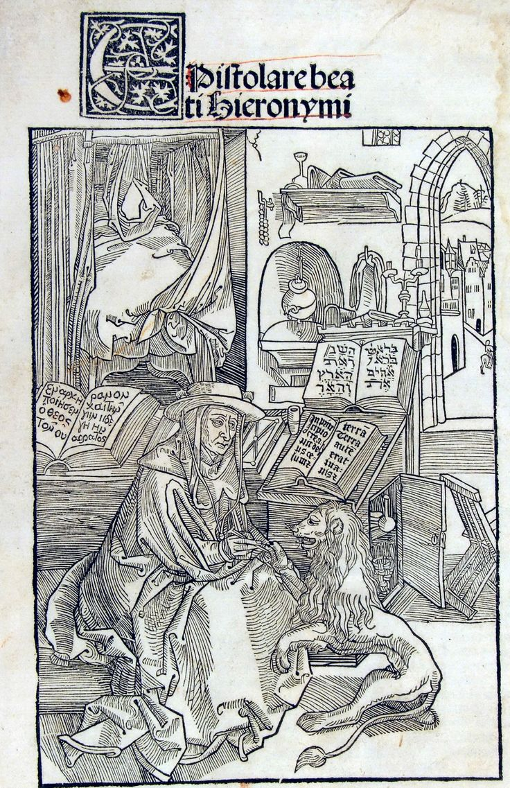 Durer 1492, Sophronius Eusebius Hieronymus, Epistolae, by Nikolaus Kessler Basel, 1492