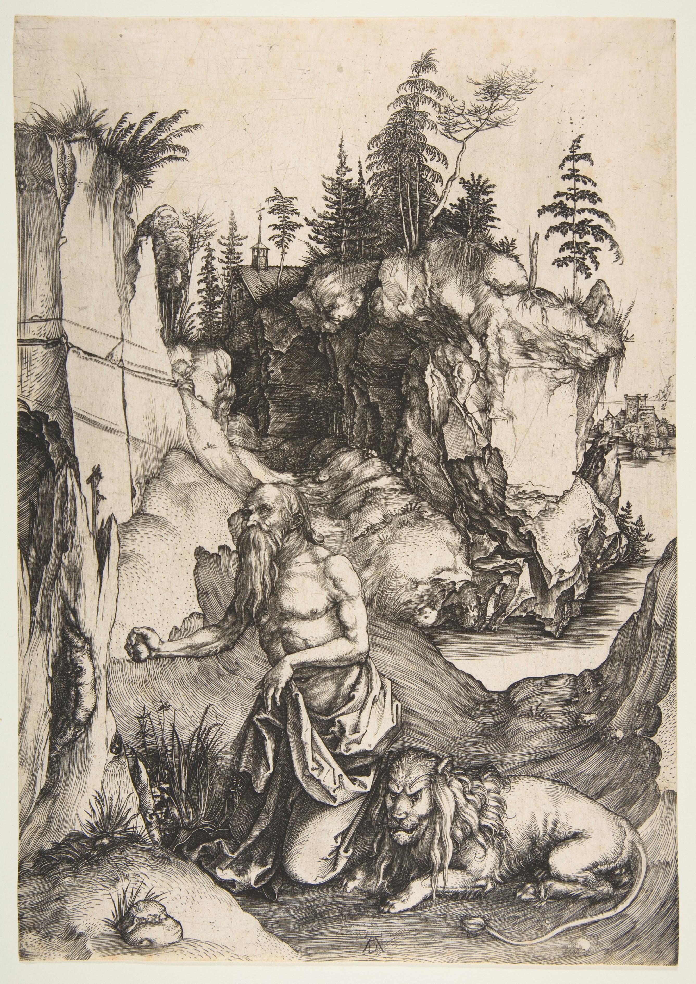 Durer 1496 Saint Jerome au desert _Metropolitan