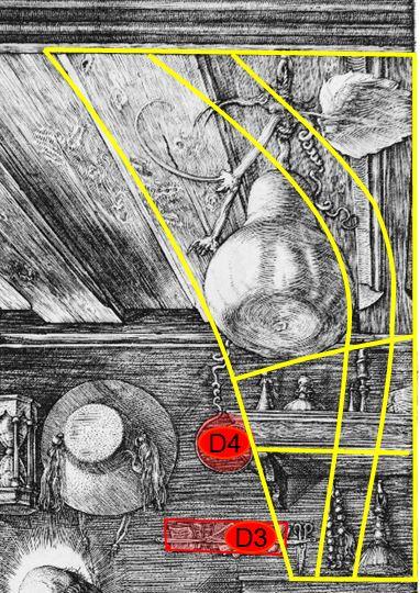 Durer 1514 Saint Jerome dans son etude grille etageres