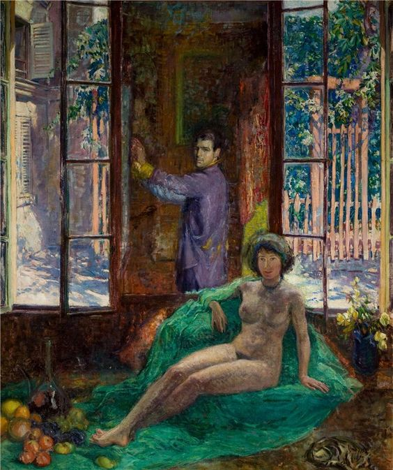 Frederick Carl Frieseke Artist and Model