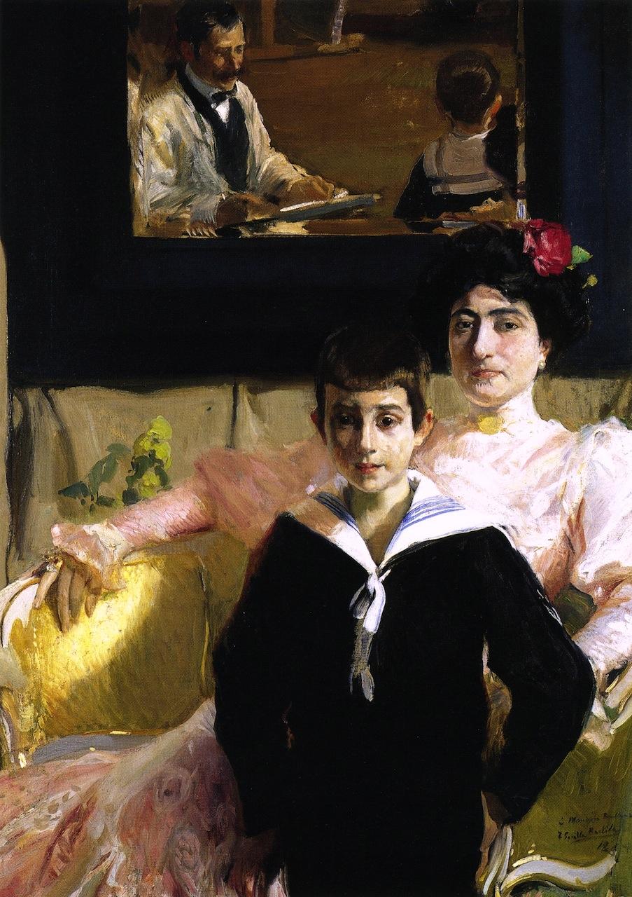 Lucrecia Arana avec son fils, Joaquin Sorolla y Bastida, 1906, Collection privee
