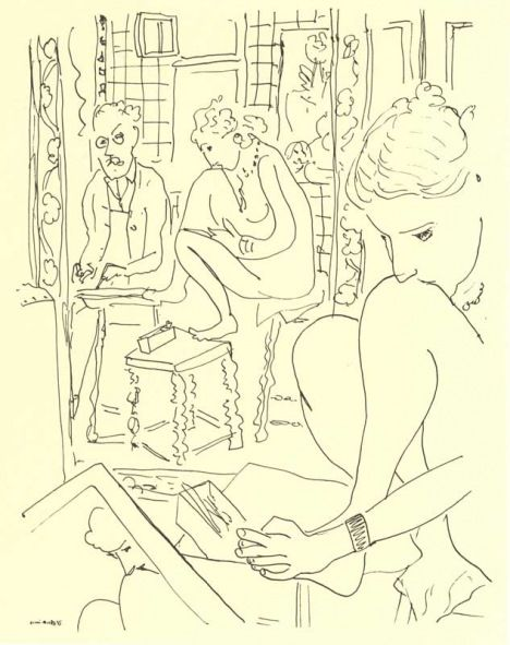 Matisse 1935 Artist and Model Reflected in a Mirror