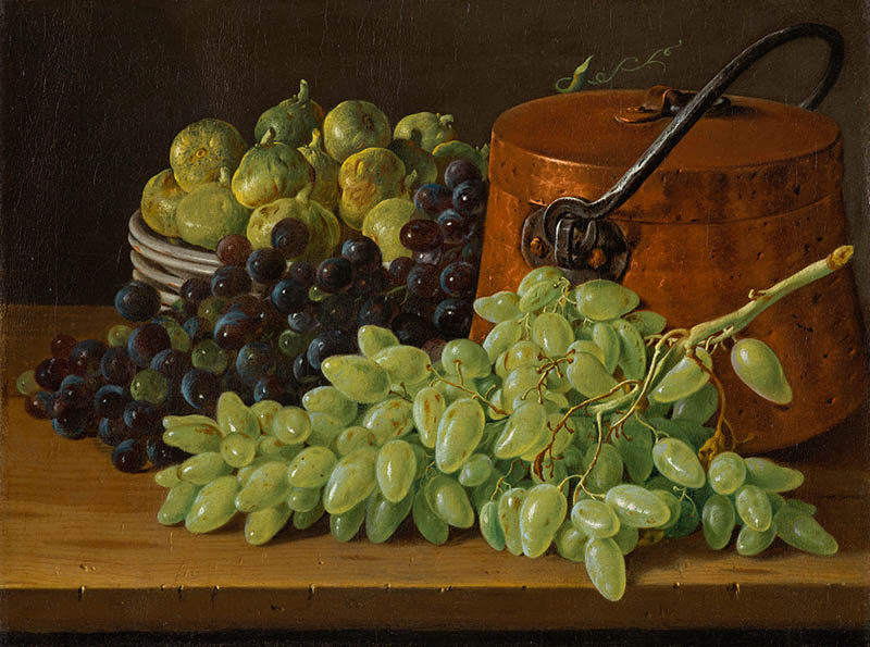 Melendez 1770 ca Still Life with Grapes, Figs, and a Copper Kettle north carolina museum of Art raleigh