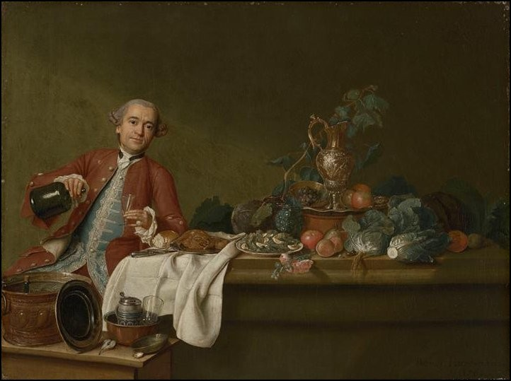 Peter Jacob Horemans Nature morte a l homme distingue, 1765 Staatsgalerie im Neuen Schloss, Bayreuth