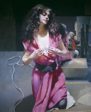 Robert-Lenkiewicz-1992-The-Painter-with-Karen.-St-Antony-Theme