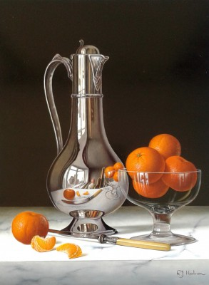 Roy-Hodrien-16699-Silver-Flagon with-Bowl-of-Mandarins