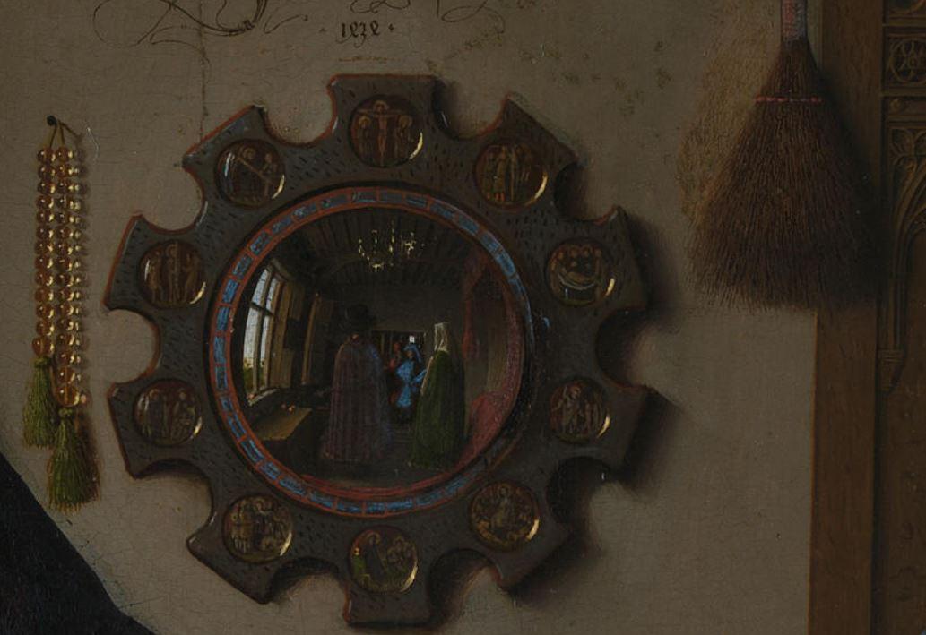 Van Eyck Arnolfini Detail Chapelet