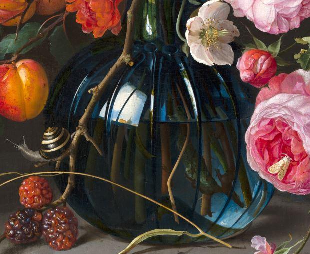 Vase of Flowers Jan Davidsz de Heem 1670 mauritshuis detail