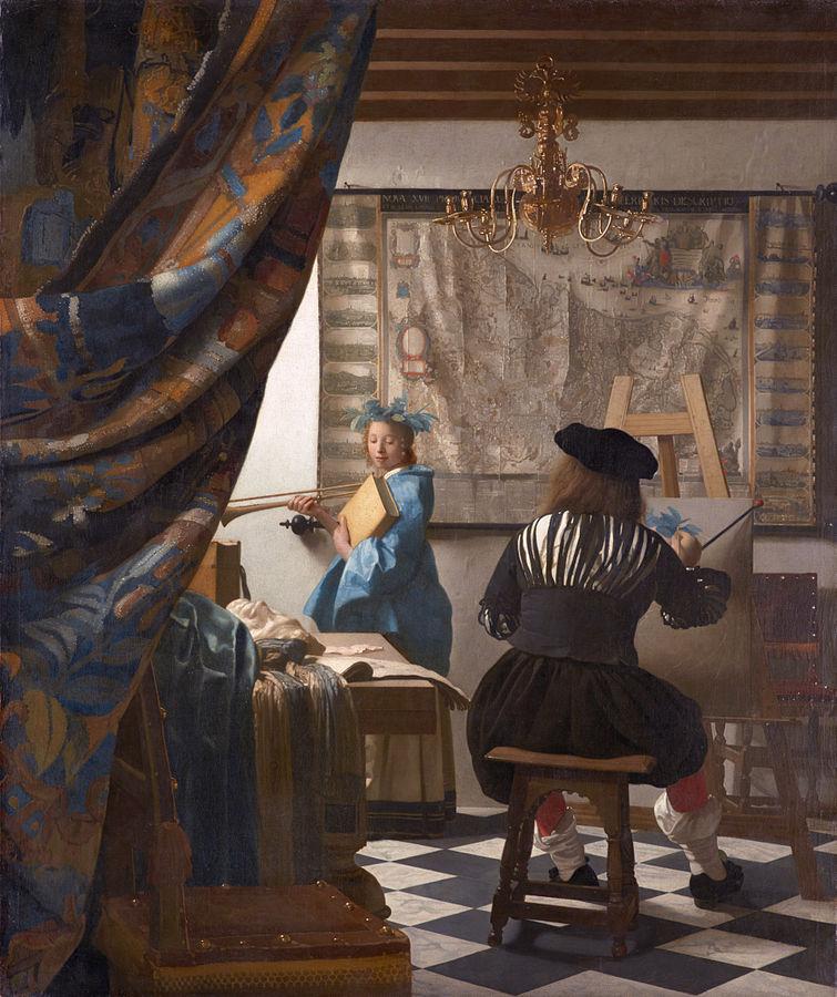 Vermeer Art de la Peinture 1666