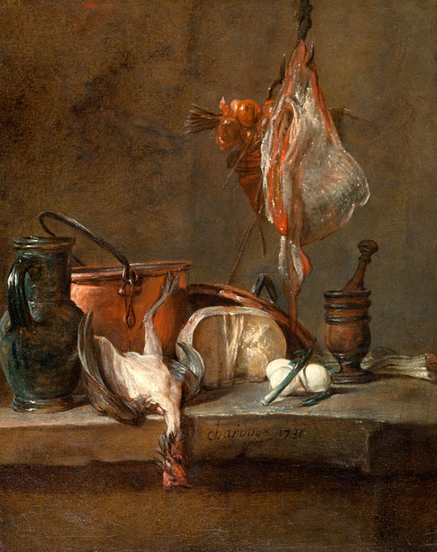 chardin 1731 Nature morte a la raie et au panier d'oignons North Carolina Museum of Arts Raleigh
