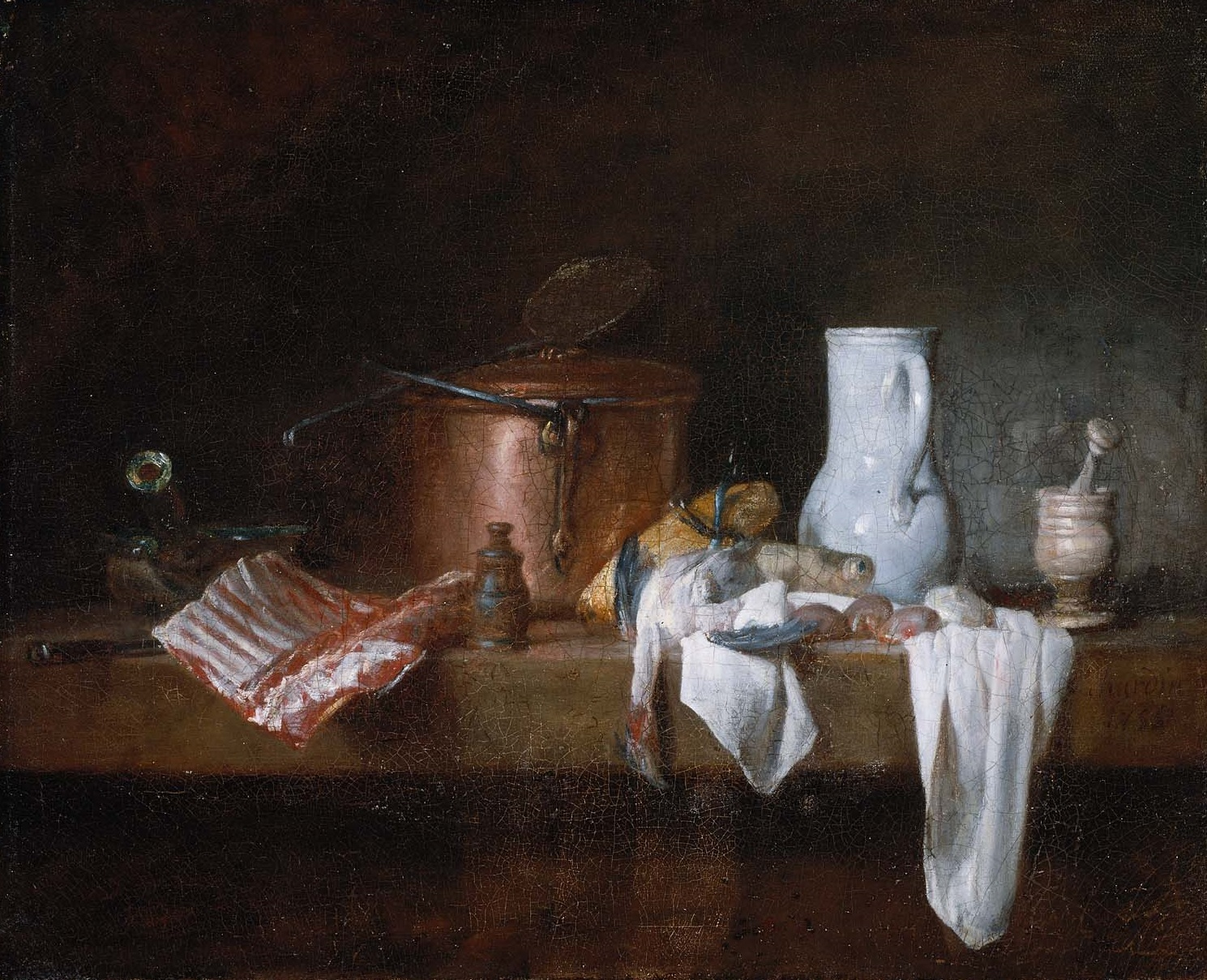 chardin 1756 la_table_de cuisine museum of Fine Arts, Boston