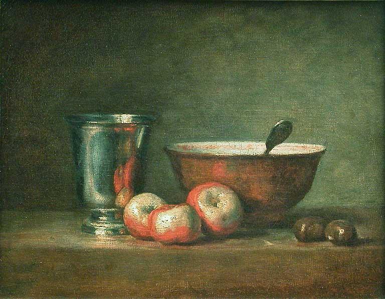 chardin 1768 Le gobelet d'argent Louvre