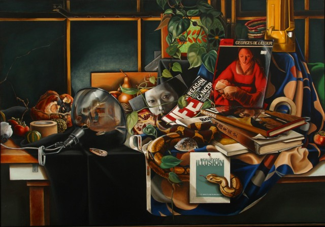 kyenan kum Still life with self portrait and Snake