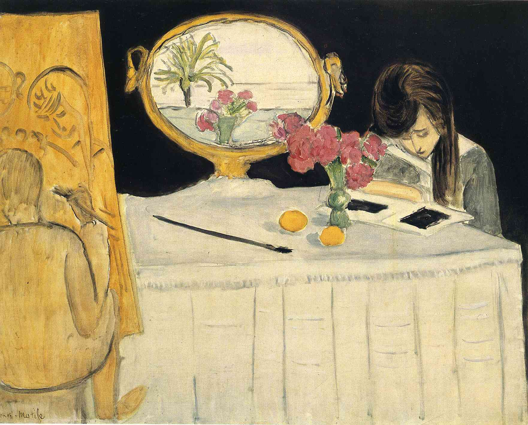 matisse 1919-the-painting-lesson-