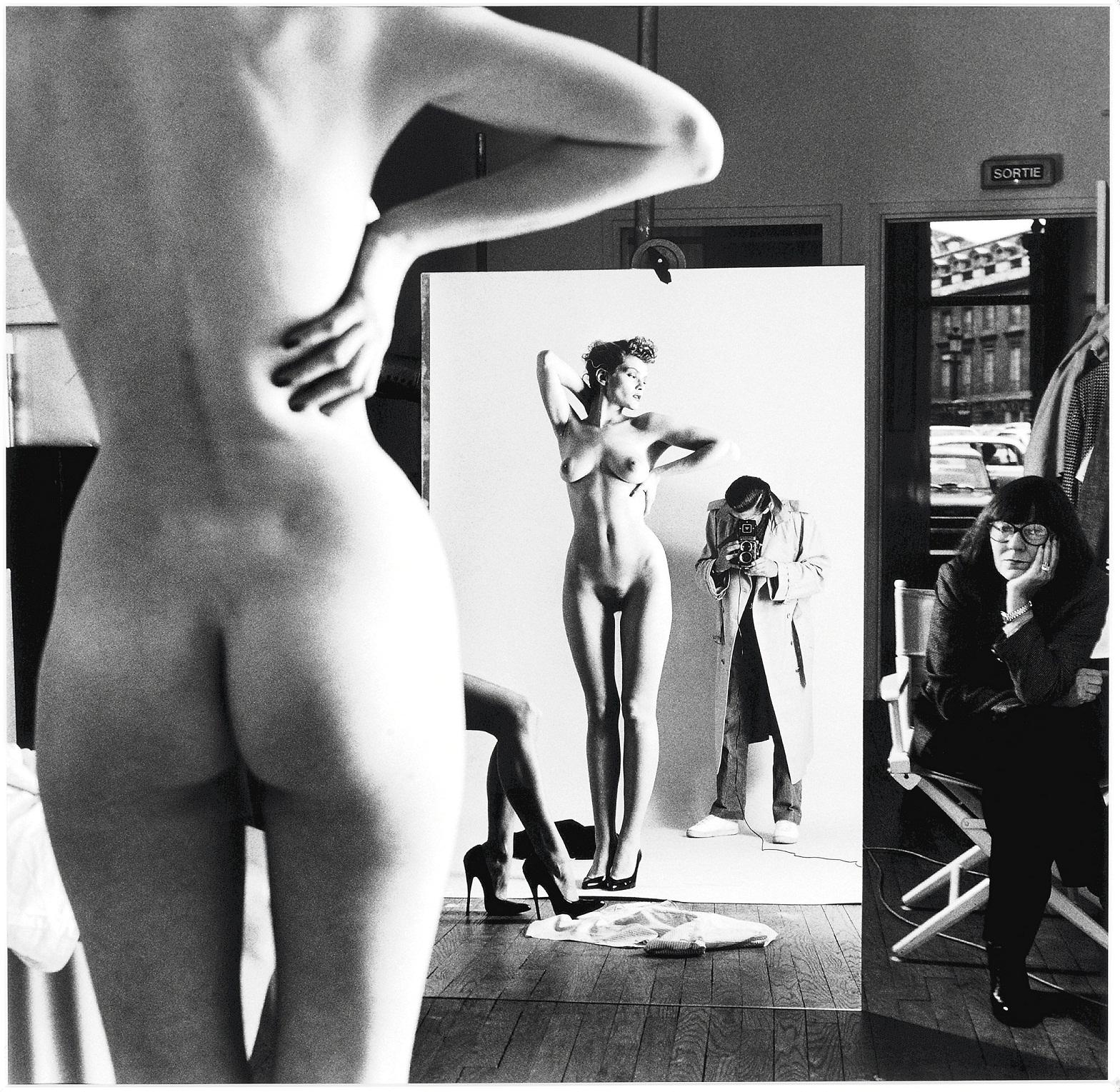 Autoportrait avec June et modeles, Helmut Newton, 1981