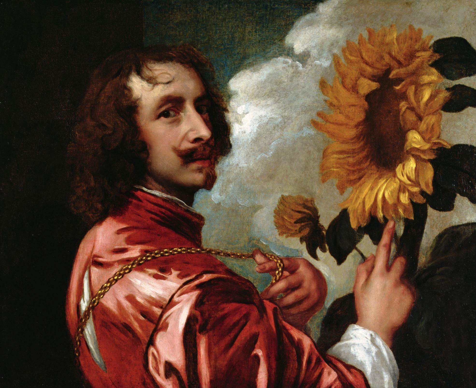 van dyck Autoportrait au tournesol 1632 Coll part