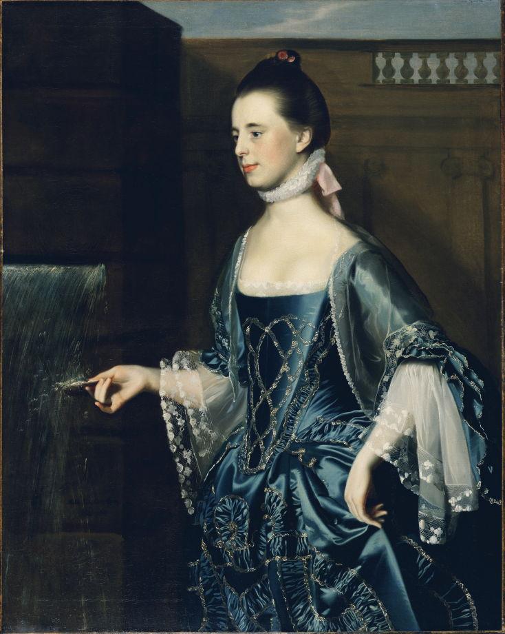 John Singleton Copley Mrs. Daniel Sargent (Mary Turner) 1763 Fine Arts Museums of San Francisco 125.7 x 99.7 cm