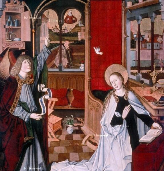 Annonciation 1460-1470 Meister von Maria am Gestade Wien, Maria am Gestade