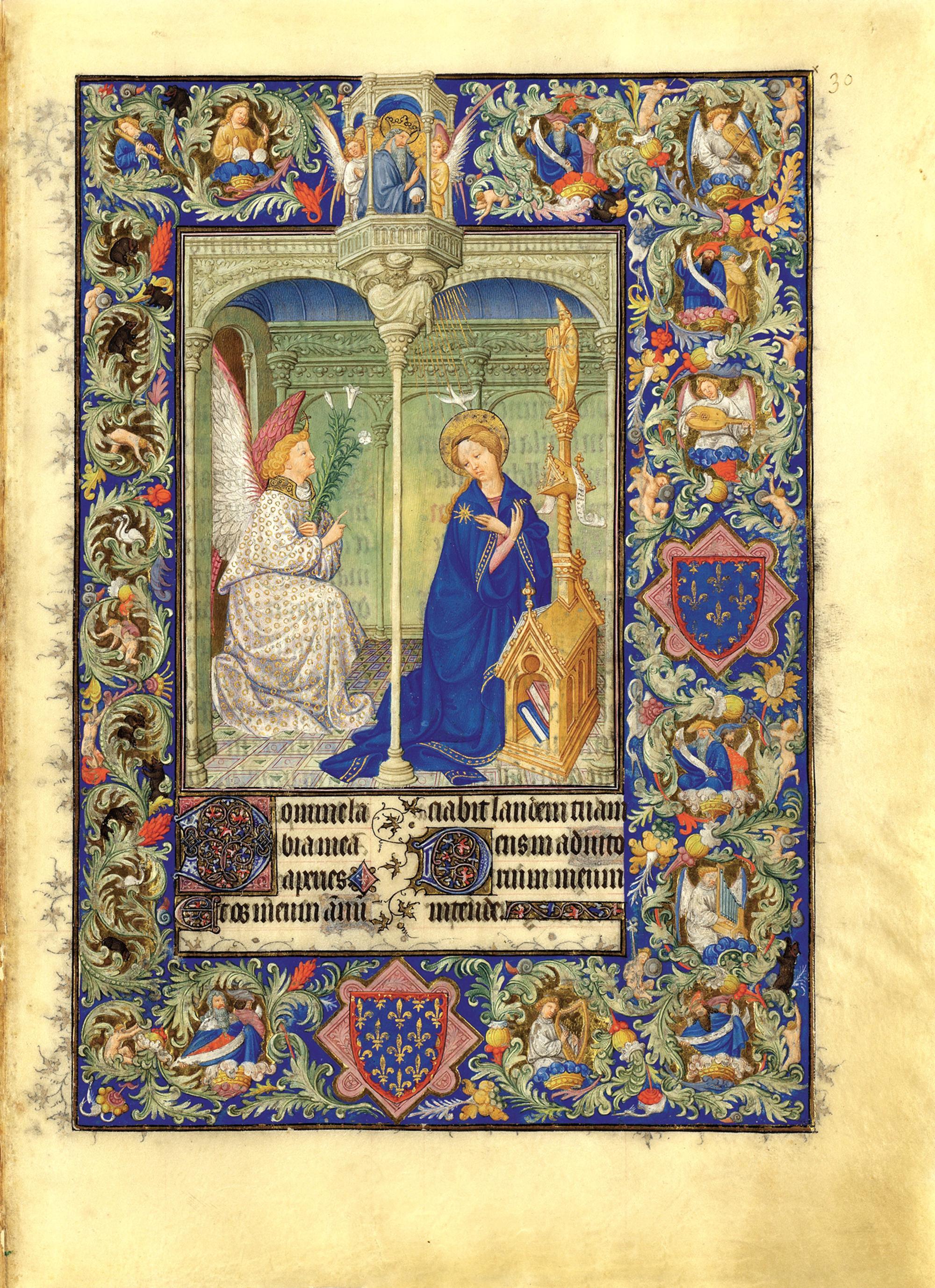 Annonciation Belles heures de jean du berry folio 30r MET