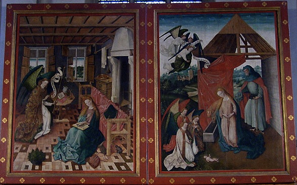Annonciation Retable-de-Schoppingen-Volets-Fermes