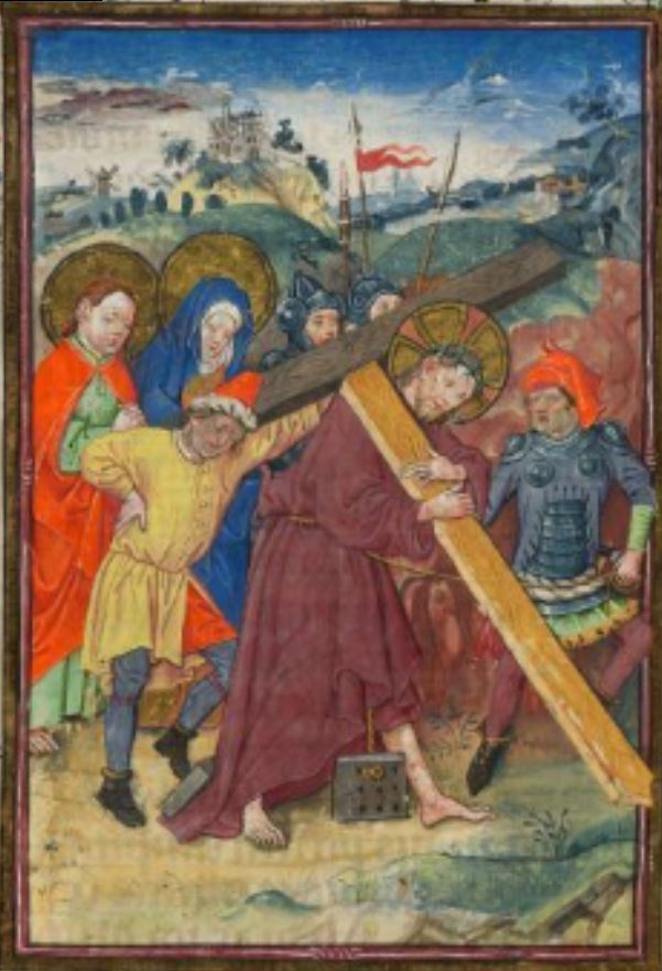 Hours of Catherine of Cleves Passion MS M.945, ff. 63v–64r