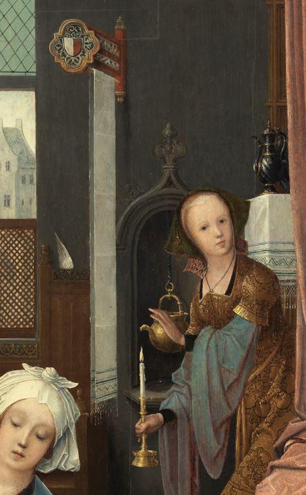 Jan_de_Beer_-_Birth_of_the_Virgin detail serviette