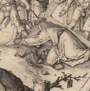 Lucas de Leyde Portement de croix 1509 detail
