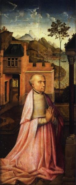 Rogier_van_der_Weyden_-_Annunciation_Triptych_-_volet gauche galleria sabauda turin
