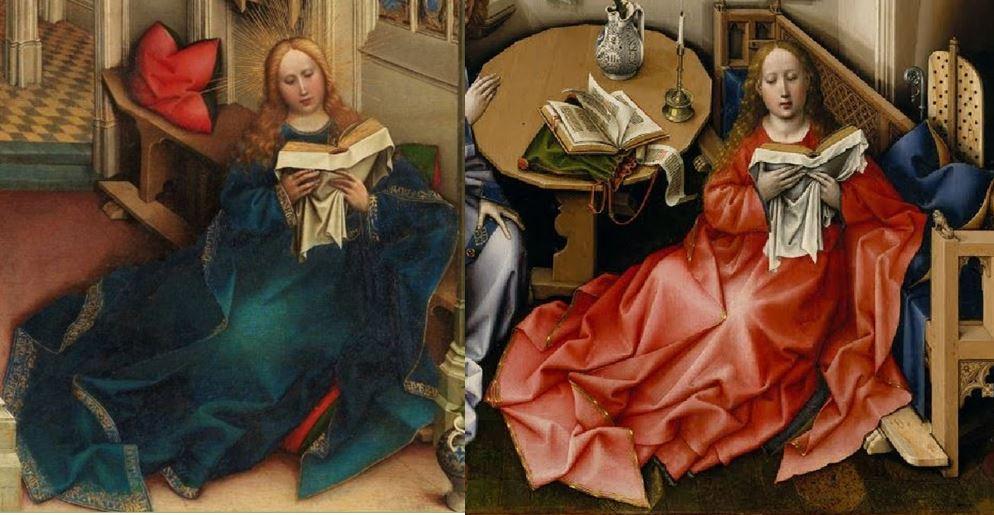 Annonciation Merode Prado Comparaison Marie