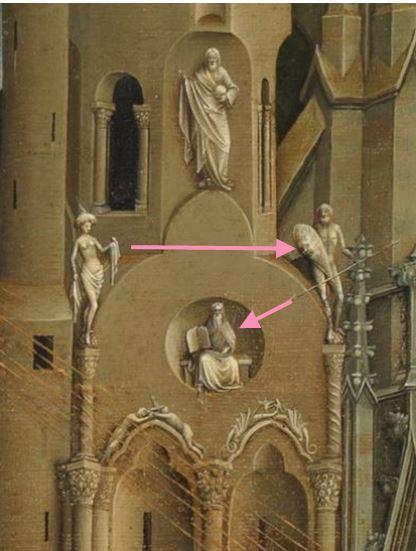 Annonciation Prado detail Moise